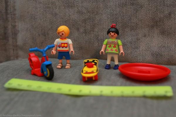 playmobil подростки со спортинвентарем линейка