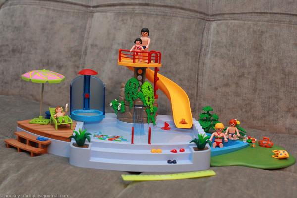 playmobil бассейн с линейкой