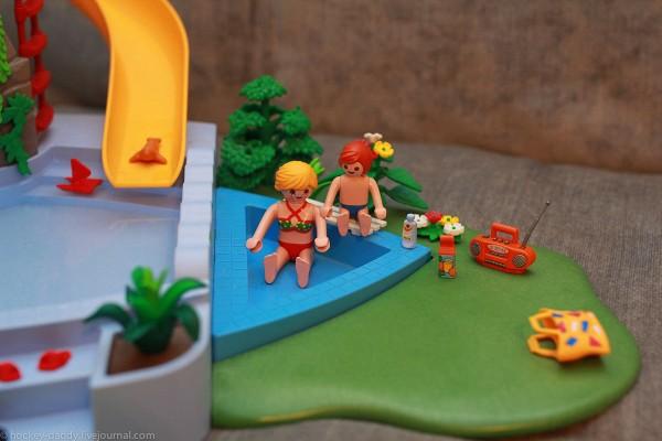 playmobil бассейн маленький