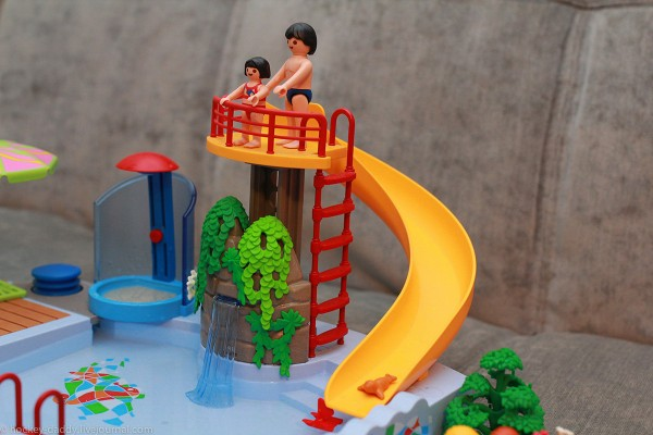 playmobil бассейн сверху