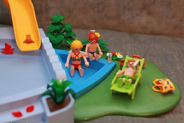 playmobil маленький бассейн с аксессуарами