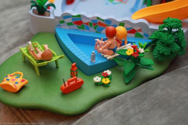 playmobil маленький бассейн сзади