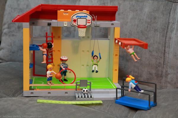 playmobil спортзал с линейкой