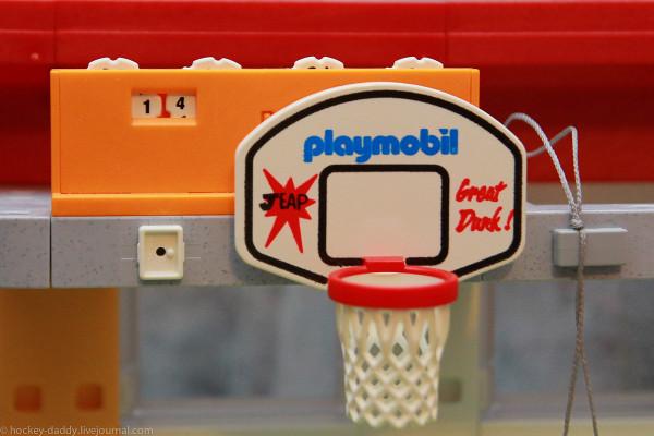 playmobil спортзал баскет корзина и табло