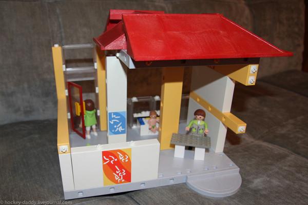 playmobil спортзал дом