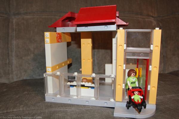 playmobil спортзал постройка дом