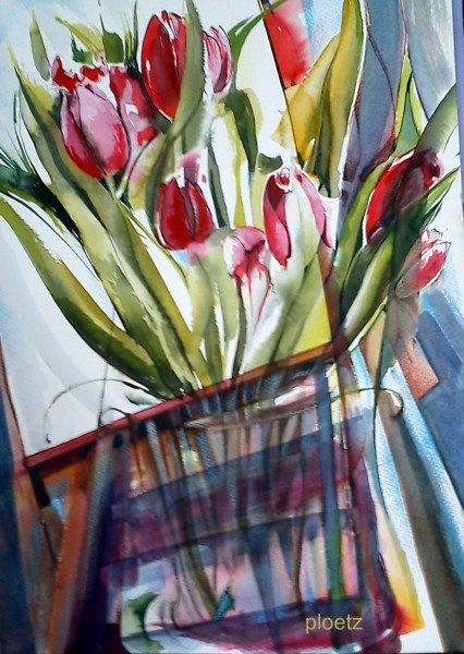 messy tulips