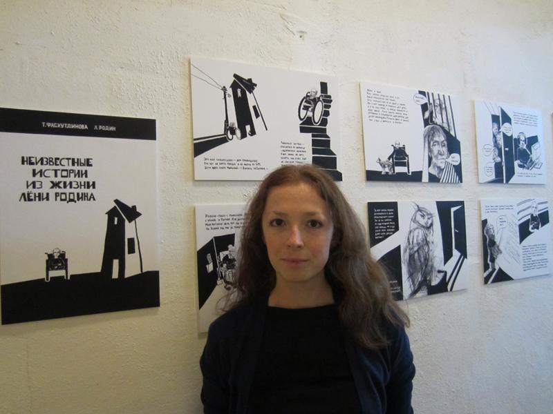 Таня со своим проектом