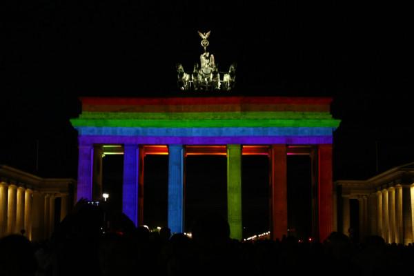 Фестиваль света-Браденбургские ворота-Берлин