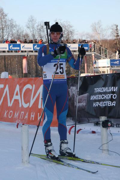 На старте спортсмен из Удмуртии Евгений Косинцев