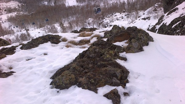 горы на горнолыжном курорте Банное