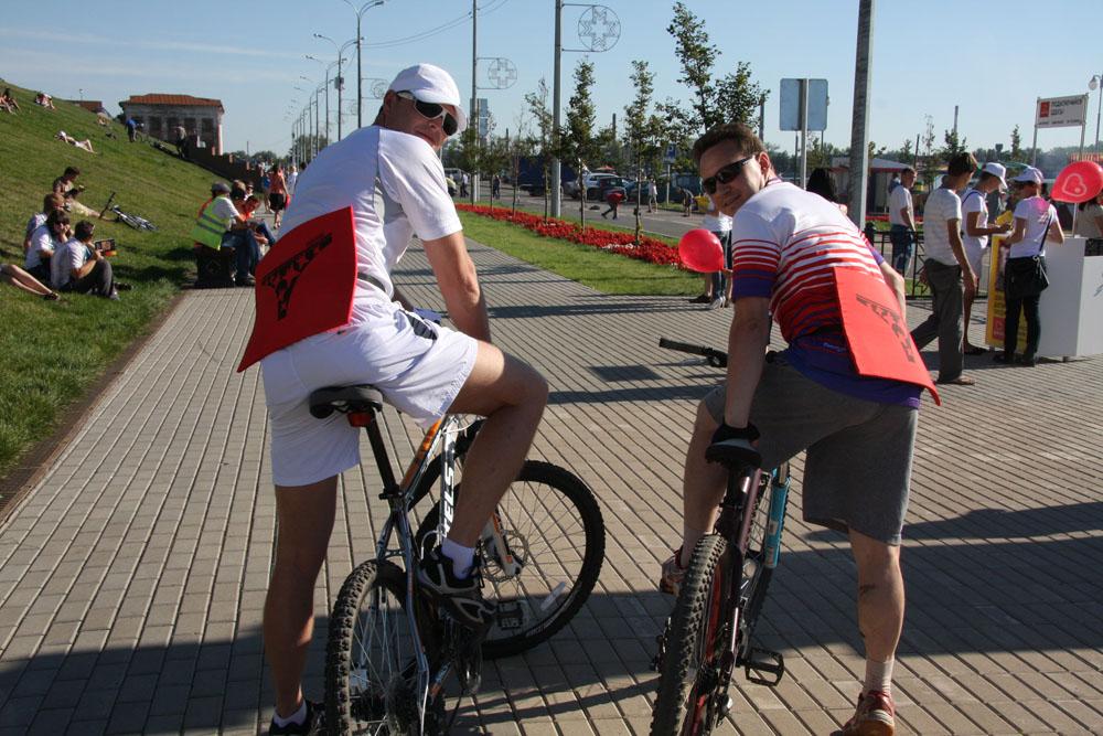 даже на велосипед с точками Holder!