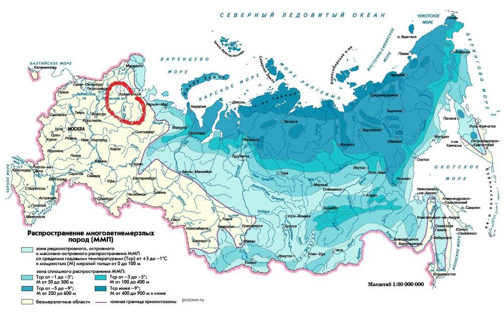 вечная мерзлота в россии 4