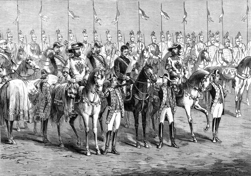 Объявление о коронации Александра III. 12 мая 1883. Гравюра. 1883