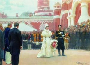 И.Е. Репин. Речь Императора Николая II ...