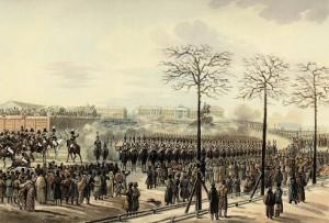 Сенатская площадь 14 декабря 1825 г.