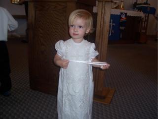 Kjersti in her christening gown
