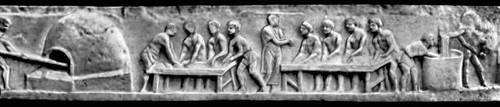 Мавзолей Еврисака, Приготовление и выпечка хлеба