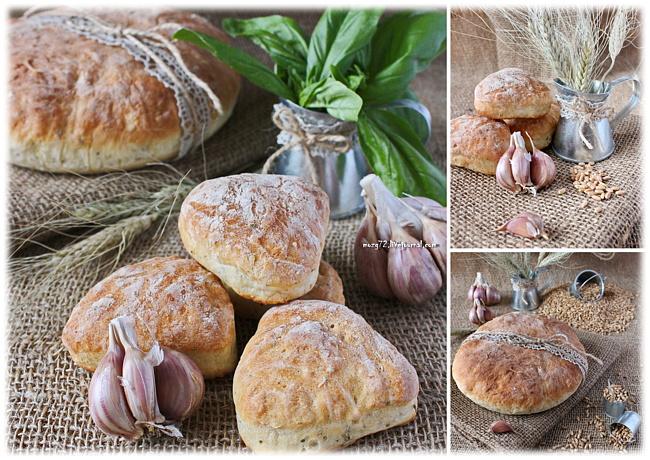 Чесночный хлеб с базиликом мозг72