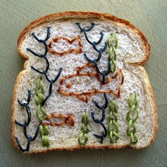Хлеб вышивка