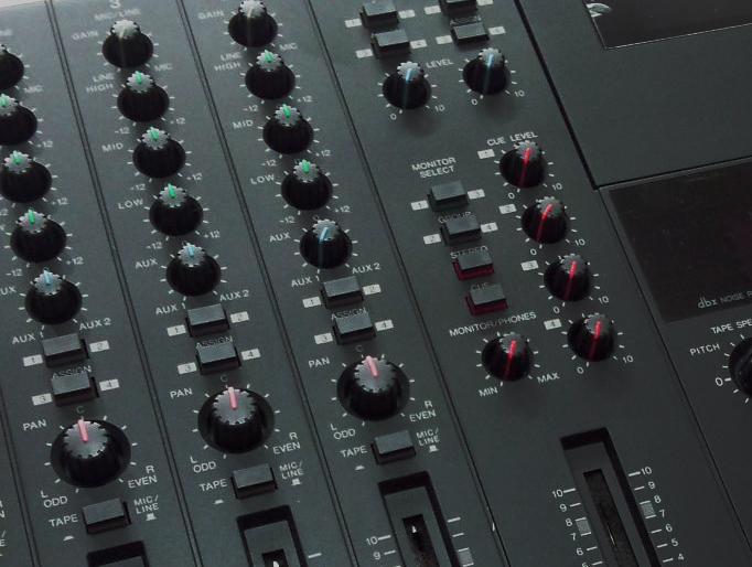 Контроль каналов Yamaha MT4X;