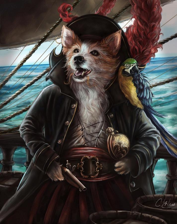 Портреты исторических личностей. Натурщики: Кошка и Собака ...