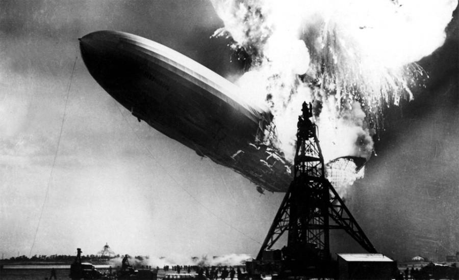 zeppelin-on-fire