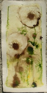 painting of poppies in wet-on-wet technique