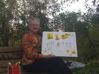 Honoria with garden graphic recording