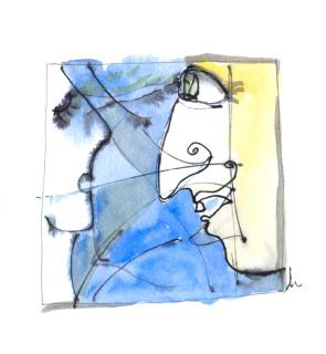 squiggle painting from Vino Vino by Honoria Starbuck