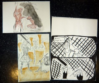 Model Cage Match in Gesture Drawing August 2009