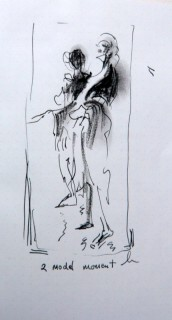 2 models in life drawing class AG09