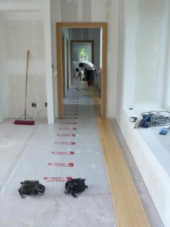 bamboo flooring installation on 2nd floor OC09