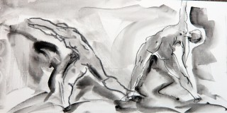 Naked Lunch LIfe Drawings by honoria starbuck 17OC09