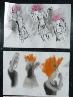 New hairspray sets hair on fire model prompt Life Drawing and Gesture class NV09