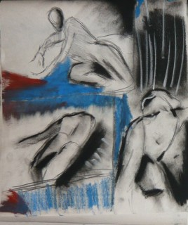 Blown away by wind life drawing and gesture by Jose NV09