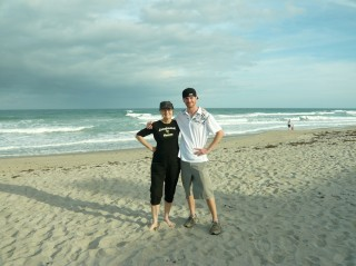 Honoria and Lucas Starbuck on Melbourne Beach, FL December 2009