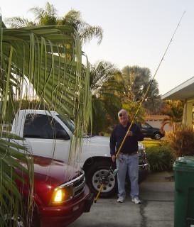 Hoppy Averitte made a rod and reel 2010 Melbourne Beach, Florida