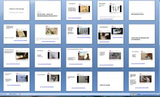 Screen shot of Life Drawing Video Collection with links in PowerPoint for teaching.