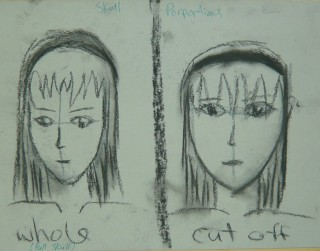 Final Exam answer illustrating cut off skull problem April 2010