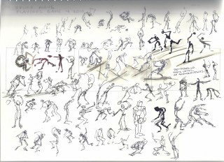 Gesture drawings of San Antonio Spurs in Playoff game 4 2010 by Honoria Starbuck
