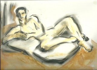 Full Monty sketch 2 May 2010 by Honoria Starbuck