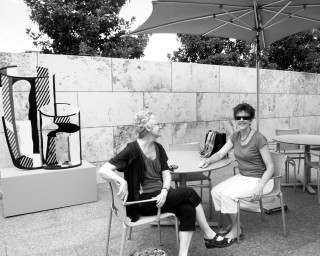 Miss Ruby and Honoria at the Nasher in June 2010