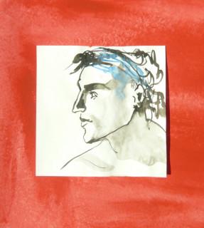 Ink and Gouache drawing by Honoria Starbuck Summer 2010 Mellow Matt