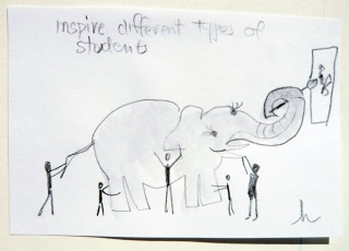 Drawing of an elephant problem game - Honoria Starbuck