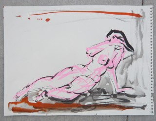 Life drawing by Honoria Starbuck from Naked Lunch session 28AG10