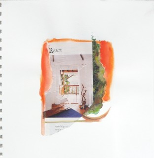 watercolor and collage by Honoria