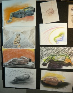 Student drawings from Anatomy NV10