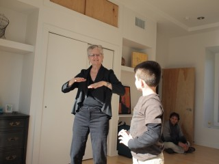 Teaching Ethan Quigong exercies