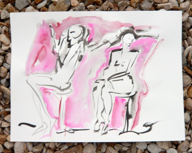 Life drawing by honoria starbuck Dec 2010